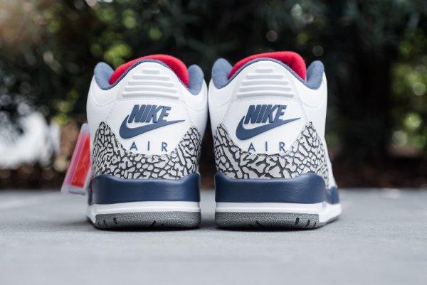 Air Jordan 3 Retro OG True Blue Cement 'Nike Air' (2016)