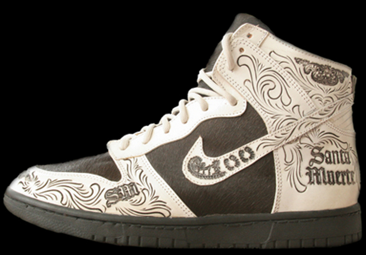 nike dunk high santa muerte main. Black Bedroom Furniture Sets. Home Design Ideas