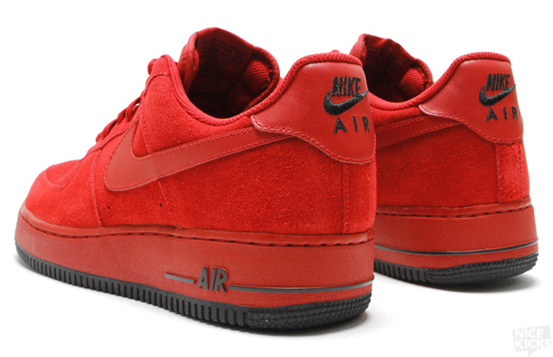 Nike Air Force 1 07 Varsity Red Black Suede