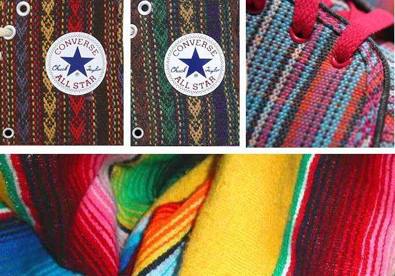 Des sneakers bien pimentées s'inspirant des couvertures mexicaines....