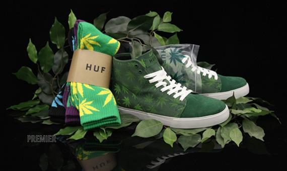 Le succès de l'imprimé cannabis sur les baskets