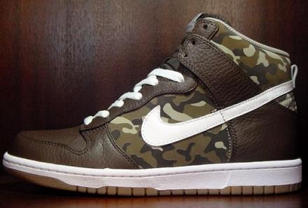 Nike Dunk High Premium Camo
