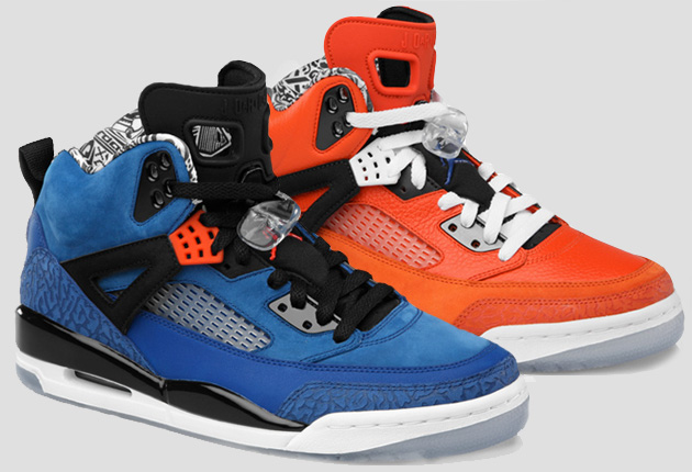 Nike air jordan spizike new york knicks for Schuhschrank jordan design
