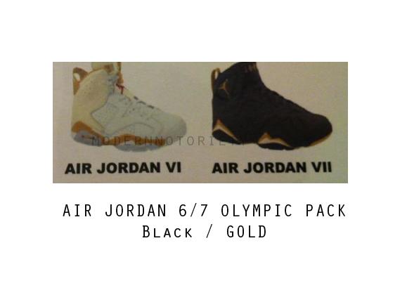 Des Air Jordan 6/7 Gold Olympic pour les JO de Londres 2012 ?