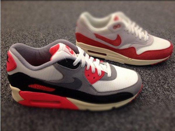 Des Air Max 1 Red OG et 90 Infrared vintage pour 2013