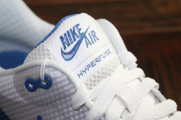 Nike Air Max 1 Hyperfuse Premium Black White Blue Shoes
