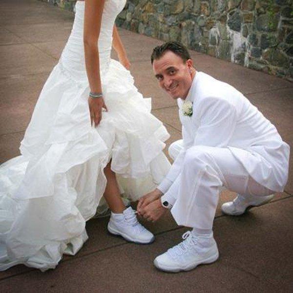 en air jordan le jour du mariage 20 jolies photos. Black Bedroom Furniture Sets. Home Design Ideas