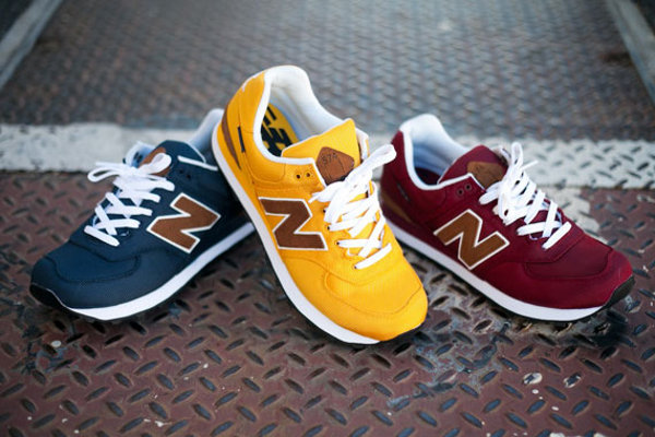 New Balance Bleu Marine Et Marron
