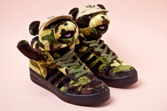 Adidas Jeremy Scott Camo Bear