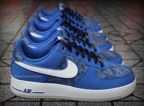 Air Force 1 Low Quot Serpent Bleu Quot Chaussure Nike