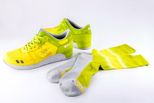 Asics Gel Lyte III Yellow/Lime x Slam Jam - chaussure