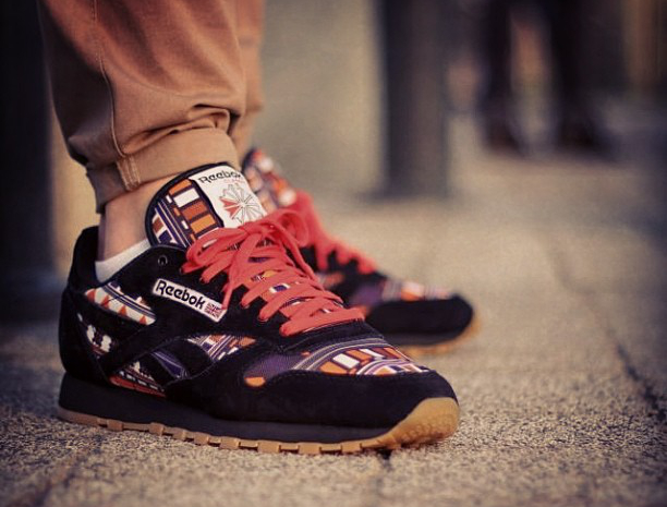 reebok classic leather x fisz czerwona