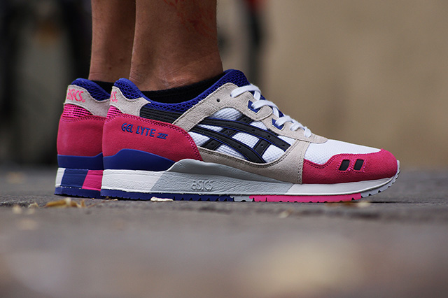 Asics gel Lyte 3 White/Purple/Pink