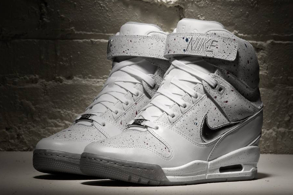 nike air revolution sky hi blanc