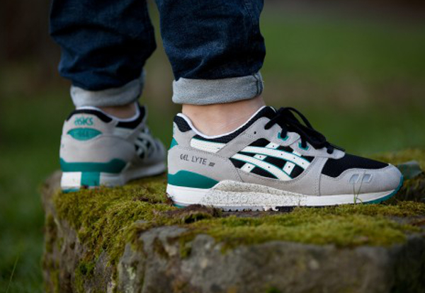 Asics Gel Lyte 3 Black/White/Sea Green