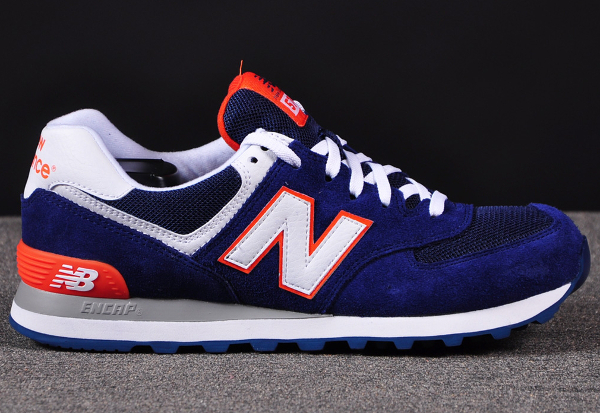 New Balance 574 Orange Et Bleu