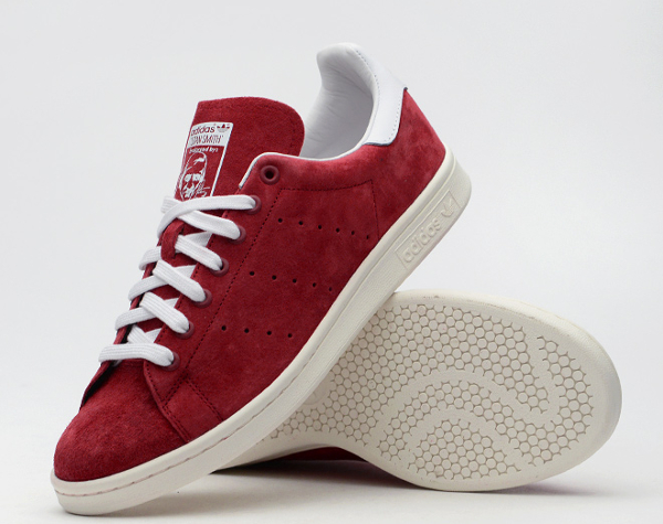 adidas stan smith rouge suede