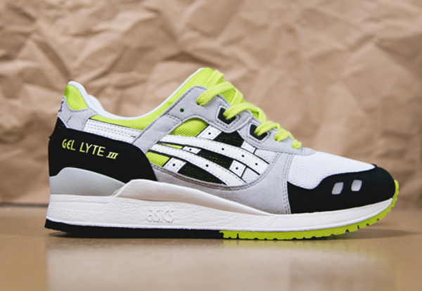 Asics Gel Lyte 3 White/Black/Neon