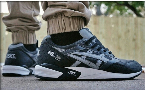 Asics Gel Saga Mens Trainers Shoes Black eBay