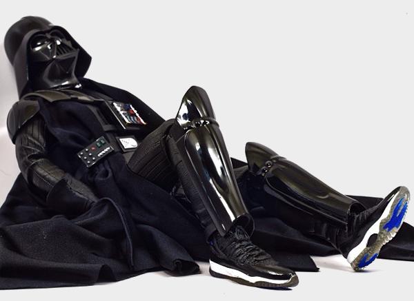 Dark Vador en Air Jordan 11 Bred & Space Jam