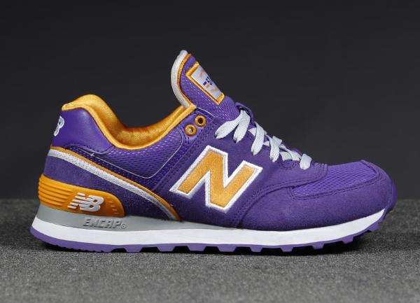 New Balance Violette Et Jaune