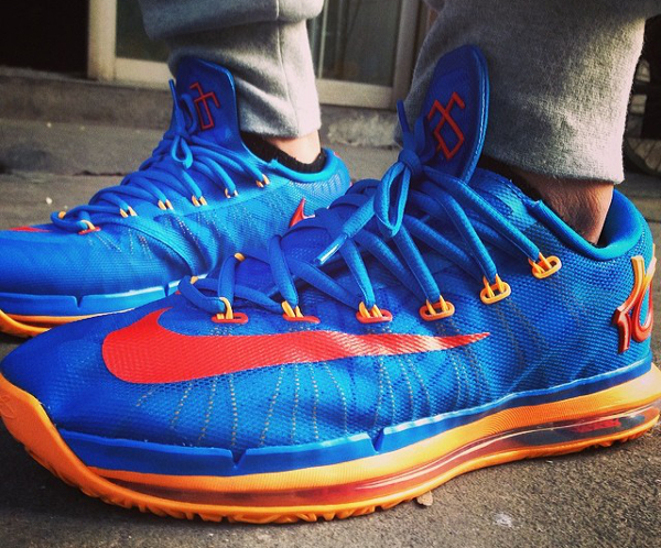 Nike KD 6 Elite OKC Blue Atomic Mango - Simon5302