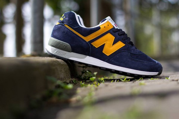 New Balance 576 Navy/Yellow