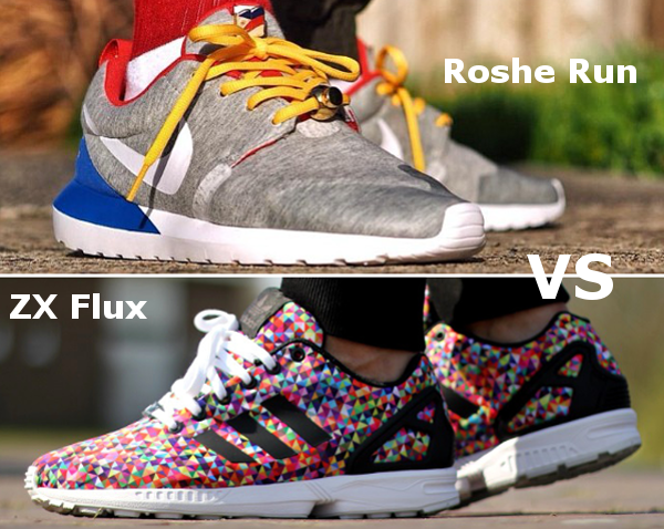 Nike Roshe Run vs Adidas ZX Flux