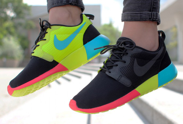 pxzen Nike Roshe Run Hyperfuse Black Venom Green