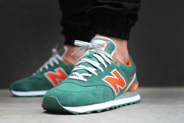 New Balance 574 Gris Turquoise Orange