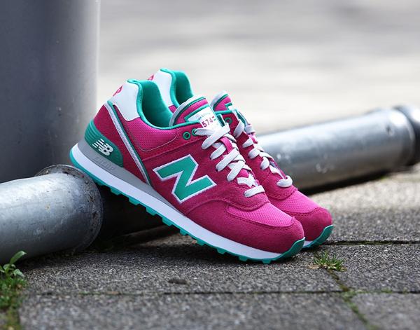 new balance 574 turquoise rose