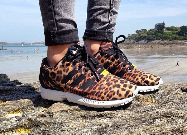 Adidas Zx Flux Leopard Sneakers