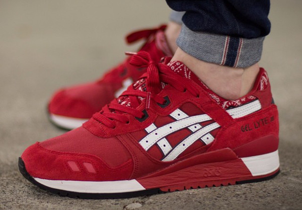 asics gel lyte 3 blanche et rouge marguerite. Black Bedroom Furniture Sets. Home Design Ideas