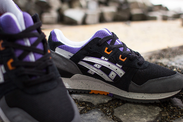 asics gel lyte iii black purple grey