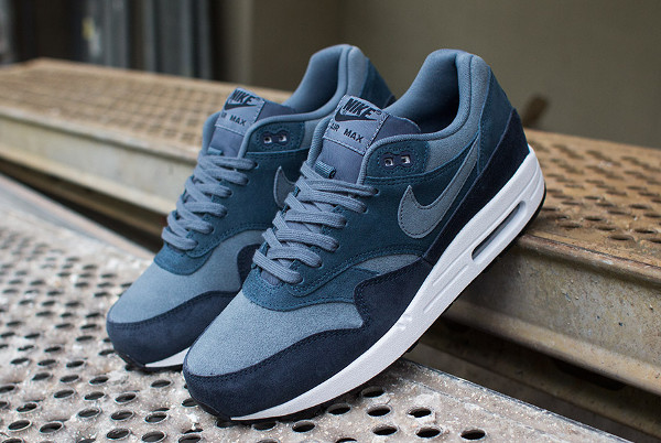 official photos f540b d0c46 ... Essential LTR (Armory Slate   Armory Slate - Armory Navy) ... Nike-Air- Max-1-BLUE-SUEDE-2 Air Max 1 Navy ...