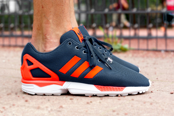 Adidas Zx Flux Dark Blue Solar Red