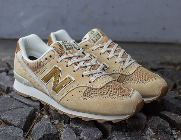new balance beige and gold