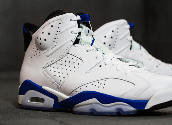 Photo Air Jordan 6 Sport Blue Retro 2014 (1)