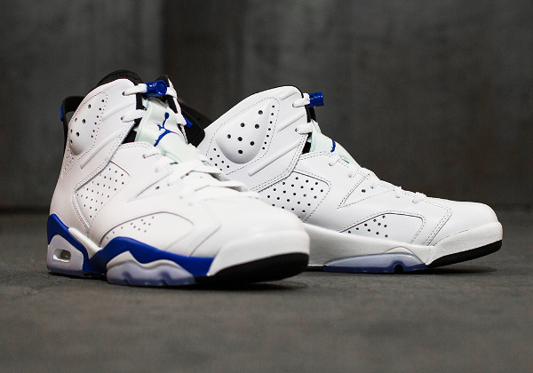 Photo Air Jordan 6 Sport Blue Retro 2014 (10)