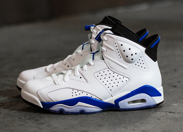 Photo Air Jordan 6 Sport Blue Retro 2014 (8)