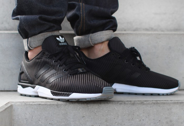 Adidas Zx Flux Noir Et Gris
