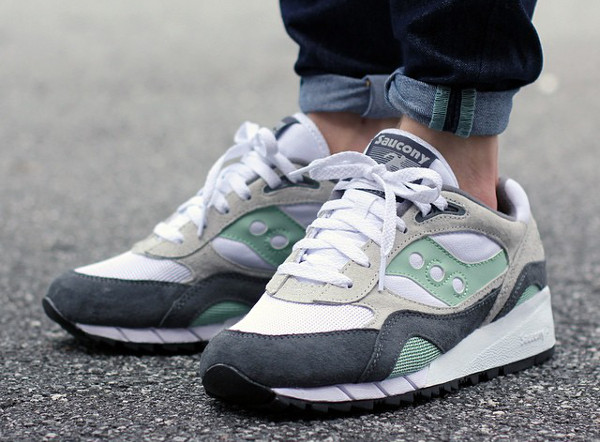 Saucony Shadow 6000 White/Grey/Mint Sneakers for MAN