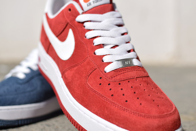 sports shoes 3f704 e84fd nike air force 1 low suede rouge