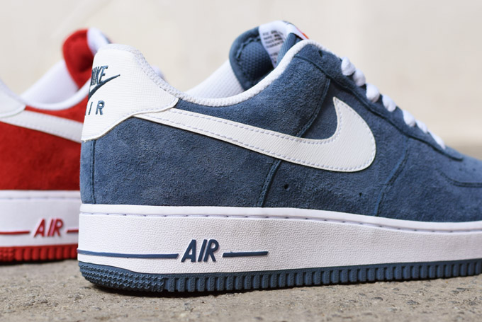 Nike Air Force Suede Bleu Marine