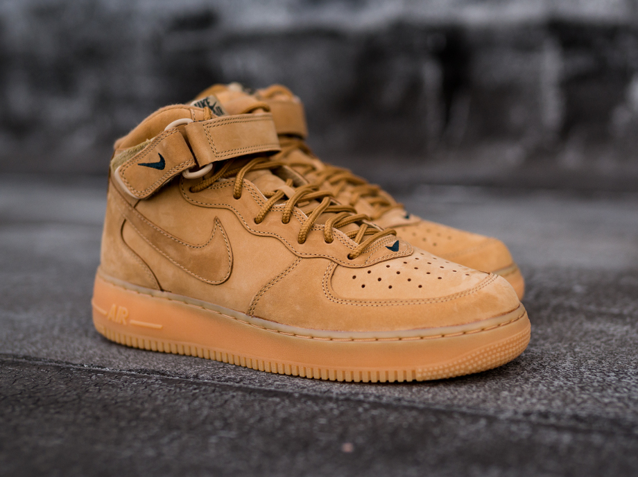 nike air force 1 mid flax wheat