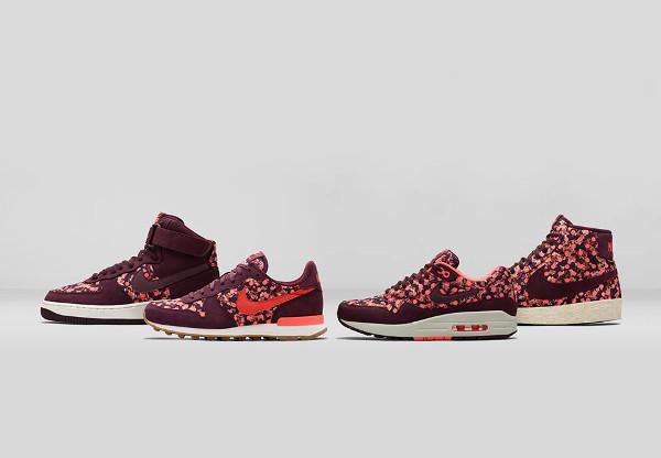 La collection Nike x Liberty 'Burgundy Belmont Ivy' post image