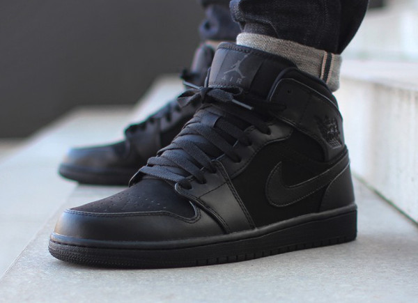 air jordan 1 mid noir