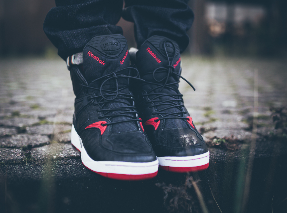 Reebok Pump Bringback x Solebox Black Red 2014 aux pieds-2