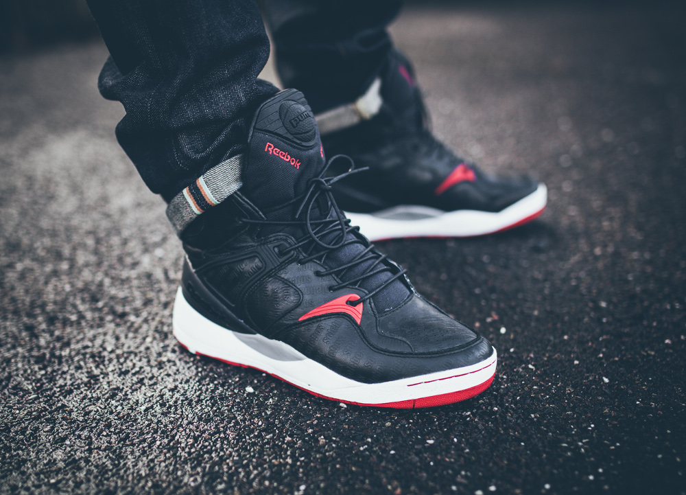 Reebok Pump Bringback x Solebox Black Red 2014 aux pieds-3