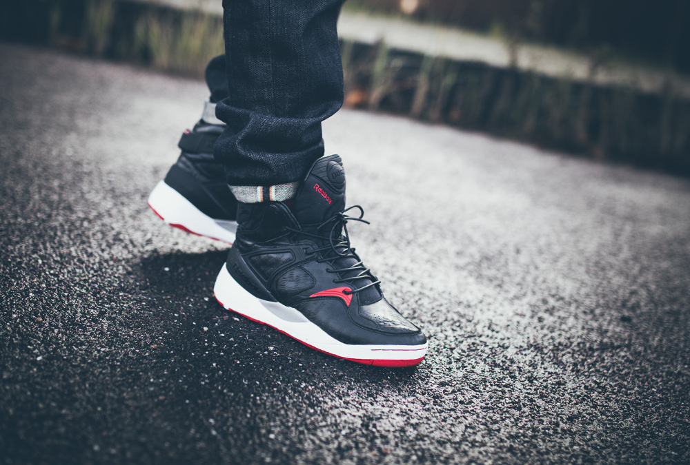Reebok Pump Bringback x Solebox Black Red 2014 aux pieds-5